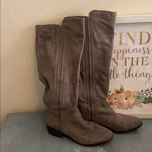 Tall suede feel boots